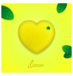 Sweet lemon vector