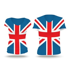 Flag shirt design of united kingdom vector