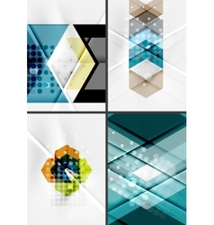 Set of angle and straight lines design abstract vector