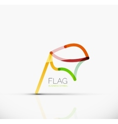 Logo flag abstract linear geometric business icon vector
