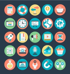 SEO and Marketing Icons 3 vector image