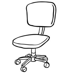 black and white computer chair vector image