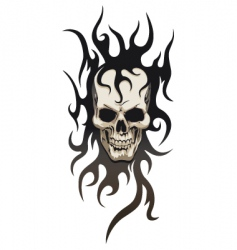 Skull tribal tattoo vector