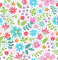 Floral color seamless pattern vector