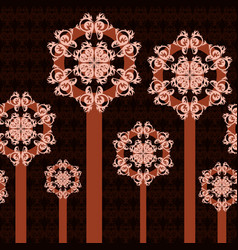 Abstract trees ornament vector