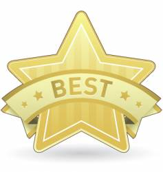best sticker vector image vector image