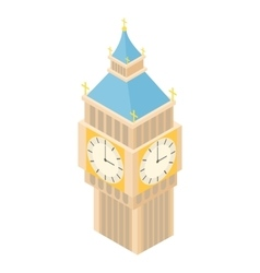 Big ben icon cartoon style vector