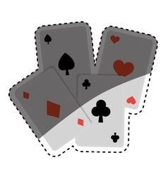 Casino cards game concept vector