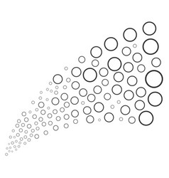 Circle bubble source stream vector