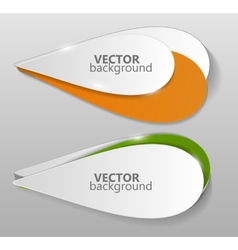 Collection of Origami Banners Template vector image