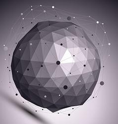 Contemporary techno black and white stylish vector