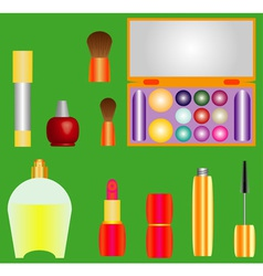 Decorative cosmetics vector