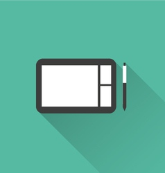 Digital sketchpad icon vector