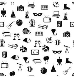 Entertainment seamless pattern vector