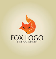 Fox logo ideas design vector