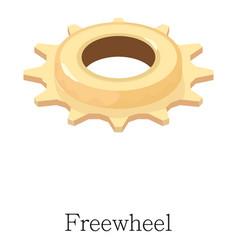Freewheel icon isometric 3d style vector