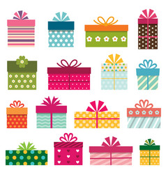 Gift boxes set vector