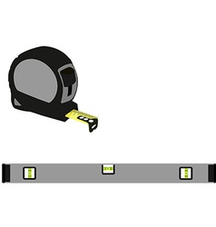 Grey level construction and tape measure vector image