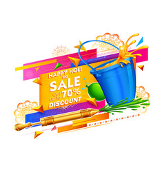 Happy holi advertisement promotional background vector