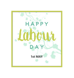labour day card vector image