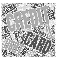 Looking for a solution to your credit card debt vector