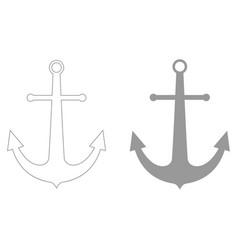 Marine anchor the grey color icon vector