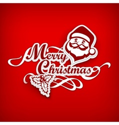 Mary Christmas poster on red vector image vector image