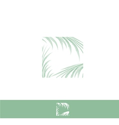 Palm Leaf Logo vector image