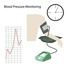Patient with blood pressure on white background vector