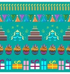 Pattern with party elements vector