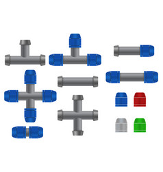 pipe connections for garden hose quick connector vector image vector image