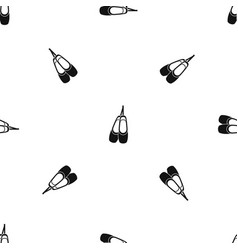 pointe shoes pattern seamless black vector image vector image