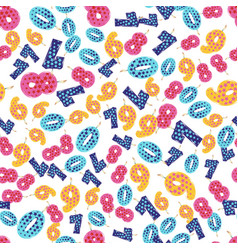 seamless pattern colorful birthday candles vector image vector image