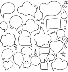 Set of isolated bubbles dialogues Thought bubble vector image