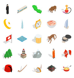showplace icons set isometric style vector image vector image