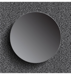 Silver circle on silver sequins background vector