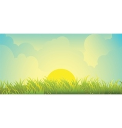 skies and grass vector image