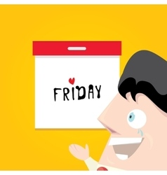 Thanks god it is friday concept i love friday vector