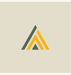 triangle line abstract logo vector image