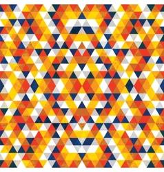 Triangular Mosaic Orange Background vector image vector image