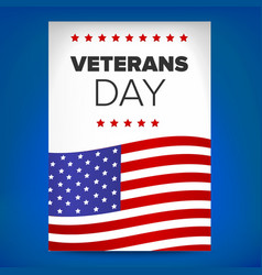 veterans day template vector image