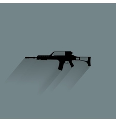 Weapon Silhouette Icon vector image vector image
