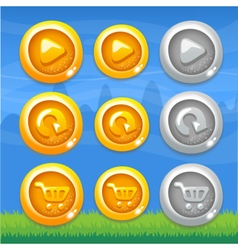 Webset of buttons vector image