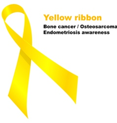 Yellow ribbon vector image