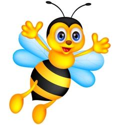 funny bee cartoon vector image