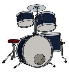 Dark blue percussion vector