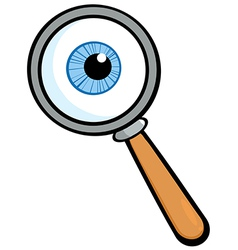 Magnifying glass with eye ball vector