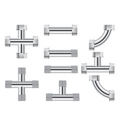 pipes water metal pipe vector image