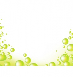 Bubbles border vector