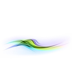 abstract shape blue green wave dis vector image